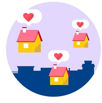 casas con corazones